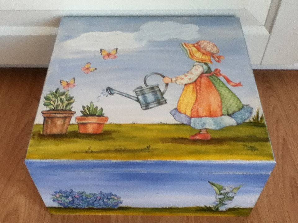 Cajitas de madera con servilletas imagui - Decorar cajas de madera con servilletas ...