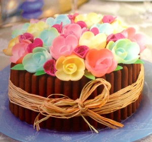 tarta flores 3D